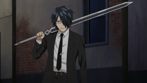 Episode 4 - Akane holding the Demon Great Sword (Clay)