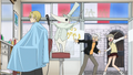 Soul Eater Episode 32 HD - Maka and Soul Evans shocked to see Excalibur cut Hero's hair