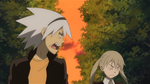 Soul Eater Episode 37 HD - Maka and Soul Evans practice in Second Campus (6)