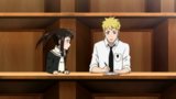 Soul Eater NOT Episode 4 - Tsugumi and Clay in classroom 2