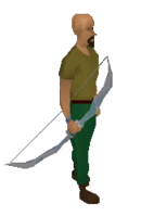 Crystal bow equiped