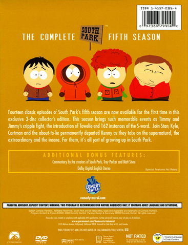 File:South Park The Complete Fifth Season - Back Cover.png
