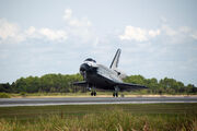 Space shuttle Endeavour STS-118 landing