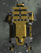 Mining Hauler beneath