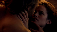 Sibyl and Gannicus make love
