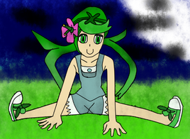 Mallow with spread legs