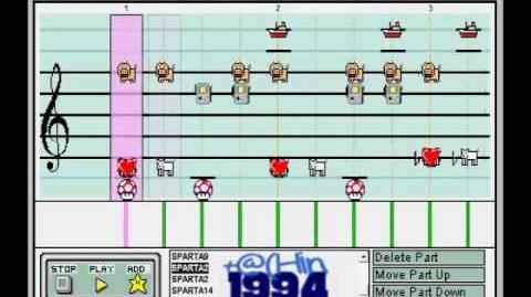 THIS IS SPARTA REMIX (Short Version) Mario Paint Composer (2500 SUBS CELEBRATION!!!!)