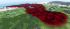 Blood plains stylized