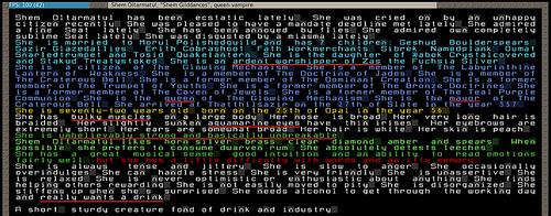 File:The profile of Shem Gilddances, vampire queen of dwarves -dwarffortress.jpg