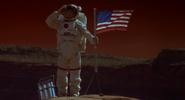 Patrick Planting Flag on Mars