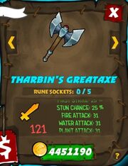 Tharbins great axe 34