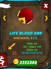 Life Blood Orb 31