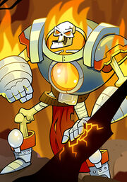 Flaming Skeleton Warrior B