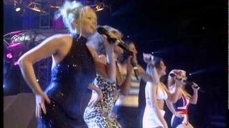 The Spice Girls perform 'Wannabe' & 'Who Do You Think You Are' BRIT Awards 1997