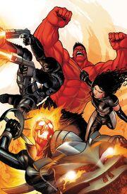 Venom, Red Hulk, X-23 and Ghost Rider.