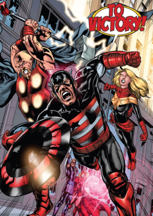The Dark Avengers at the end of Dark World