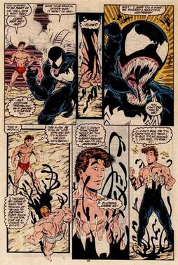 Amazing Spider-man 317 Symbiote leaves Brock