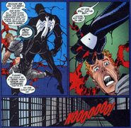 Venom taking the symbiote away from Cletus