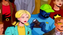 Blue human in Spider-Man Unlimited Pilot - WTF