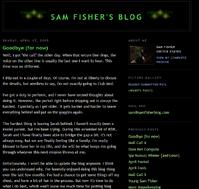 Sam fisher blog