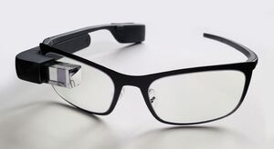 Google Glass with frame