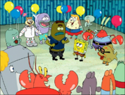Larry in SpongeBob Meets the Strangler-5