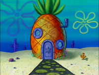 SpongeBob's pineapple house in Season 3-3