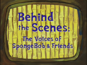 The Voices of SpongeBob and Friends - Titlecard