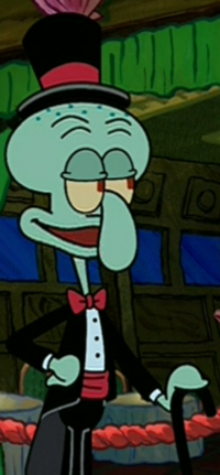 Squidward Wearing Fancy Clothes4