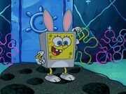 Spongebob Wearing 1 Bunny Costume