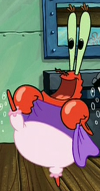 Mr. Krabs Doing the Can-Can