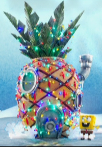 SpongeBob's pineapple house in It's a SpongeBob Christmas