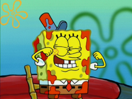 SpongeBob's eyelashes mistake in Bucket Sweet Bucket