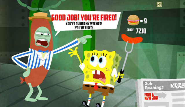 File:SpongeBob, You're Fired! (online game) - Good job! You're fired! (Mr. Weiner).png