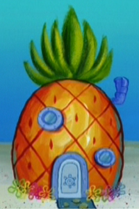 SpongeBob's pineapple house in Season 4-3