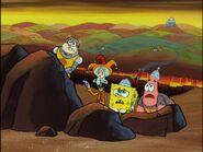 The Dark Knight, Squidly, Spongebob, & Patrick