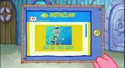 Patrick Star Checks His Instaclam 09