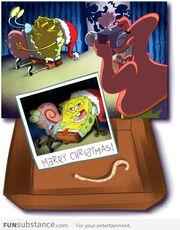 Spongebob christmas party photo