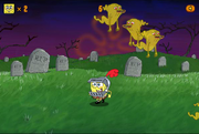 Ghost Slayer SpongeBob running