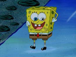 SpongeBob's white eye mistake in SpongeHenge