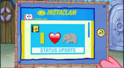 Patrick Star Checks His Instaclam 08