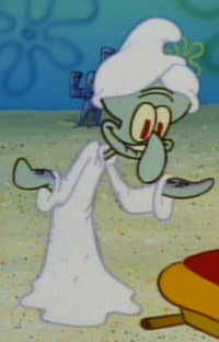 Squidward in a Bathrobe