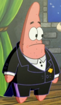 Patrick Wearing Fancy Clothes4