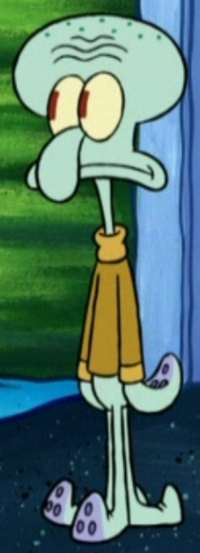 Squidward Wearing a Long Sleeve Shirt