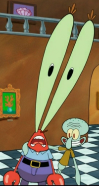 Mr. Krabs with Giant Eyes & Squidward