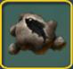 Big dead fish on a icon