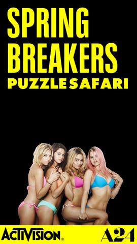 File:Spring Breakers Puzzle Safari title (iPhone).png