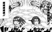 Neji and Hinata attack
