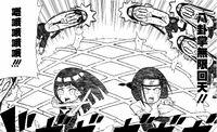 Neji and Hinata attack