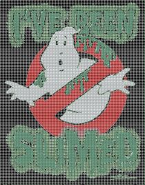 Ghostbusters green pattern